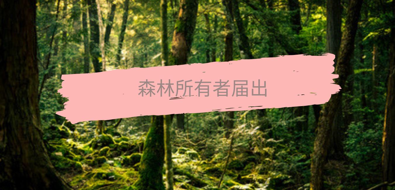 森林所有者届出|行政書士事務所REAL